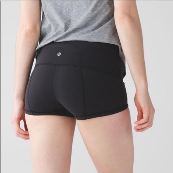 lululemon athletica Pants - Lululemon black shorts sz 4 yoga workout running